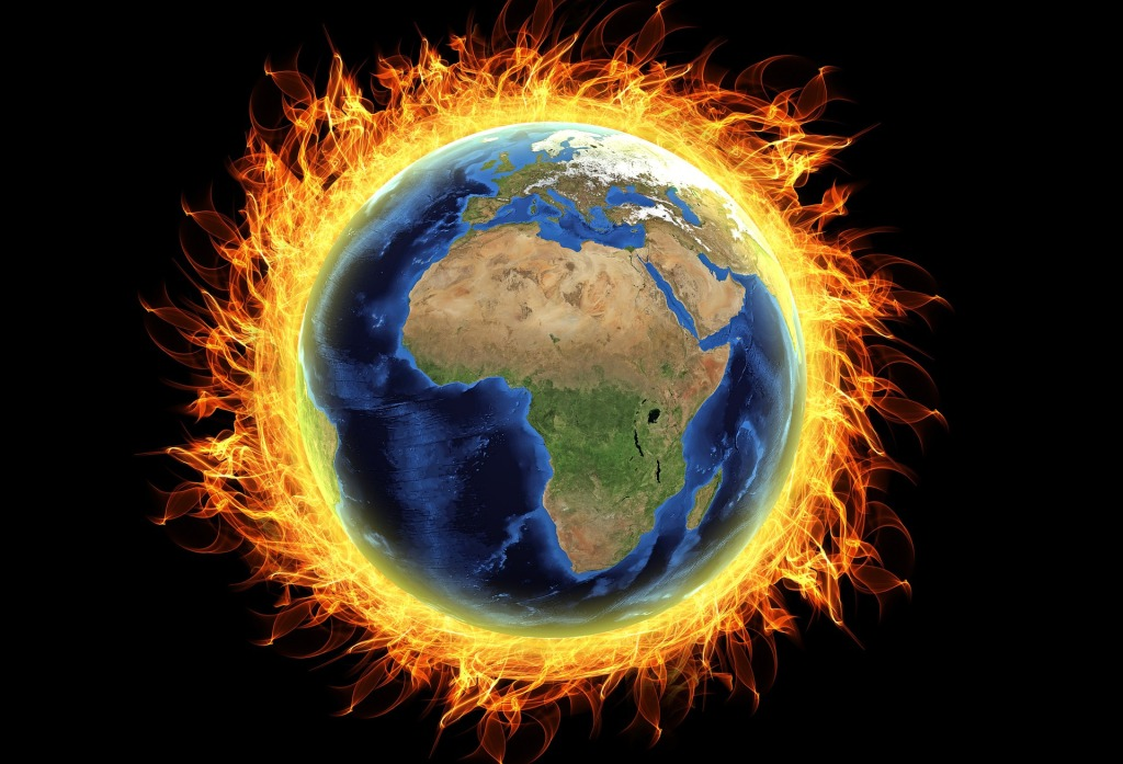 global warming fire earth